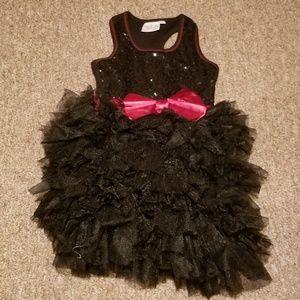 Ooh La La Couture Racerback Sequin Dress Ruffles